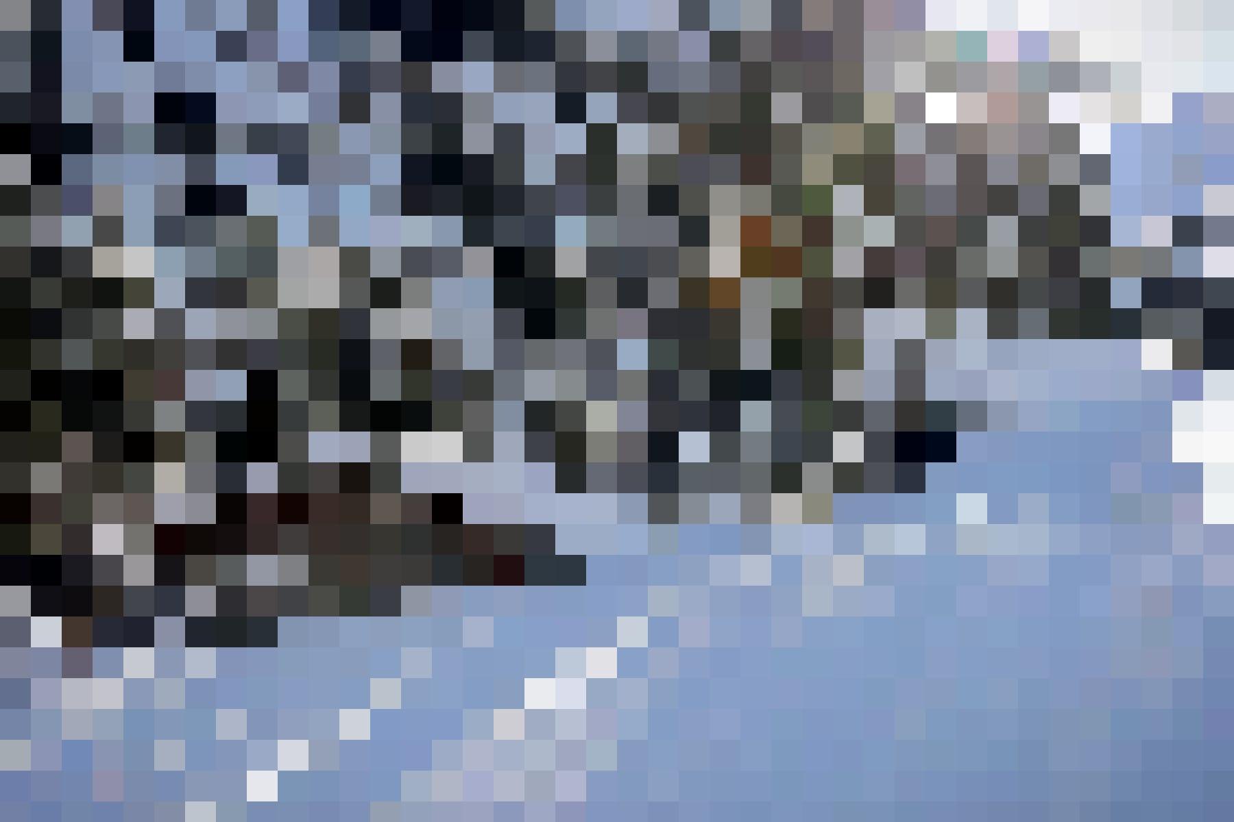 Der Schnee sorgt für absolute Stille. Durchbrechen Sie sie mit Ihren Schritten: Schneebedeckte Landschaft.