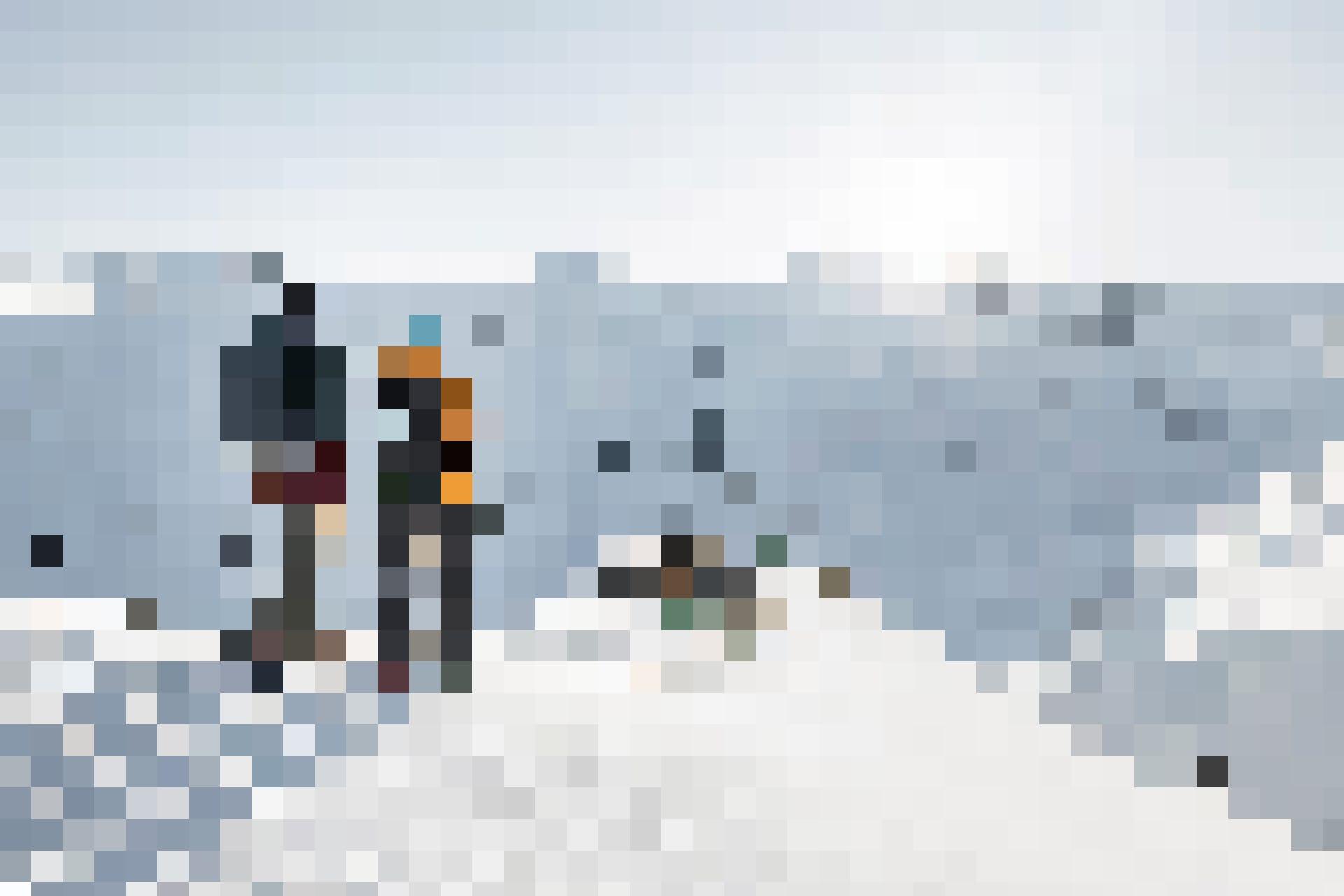 Jakobshorn-Gipfelroute: das wunderschöne Winterwetter lockt.