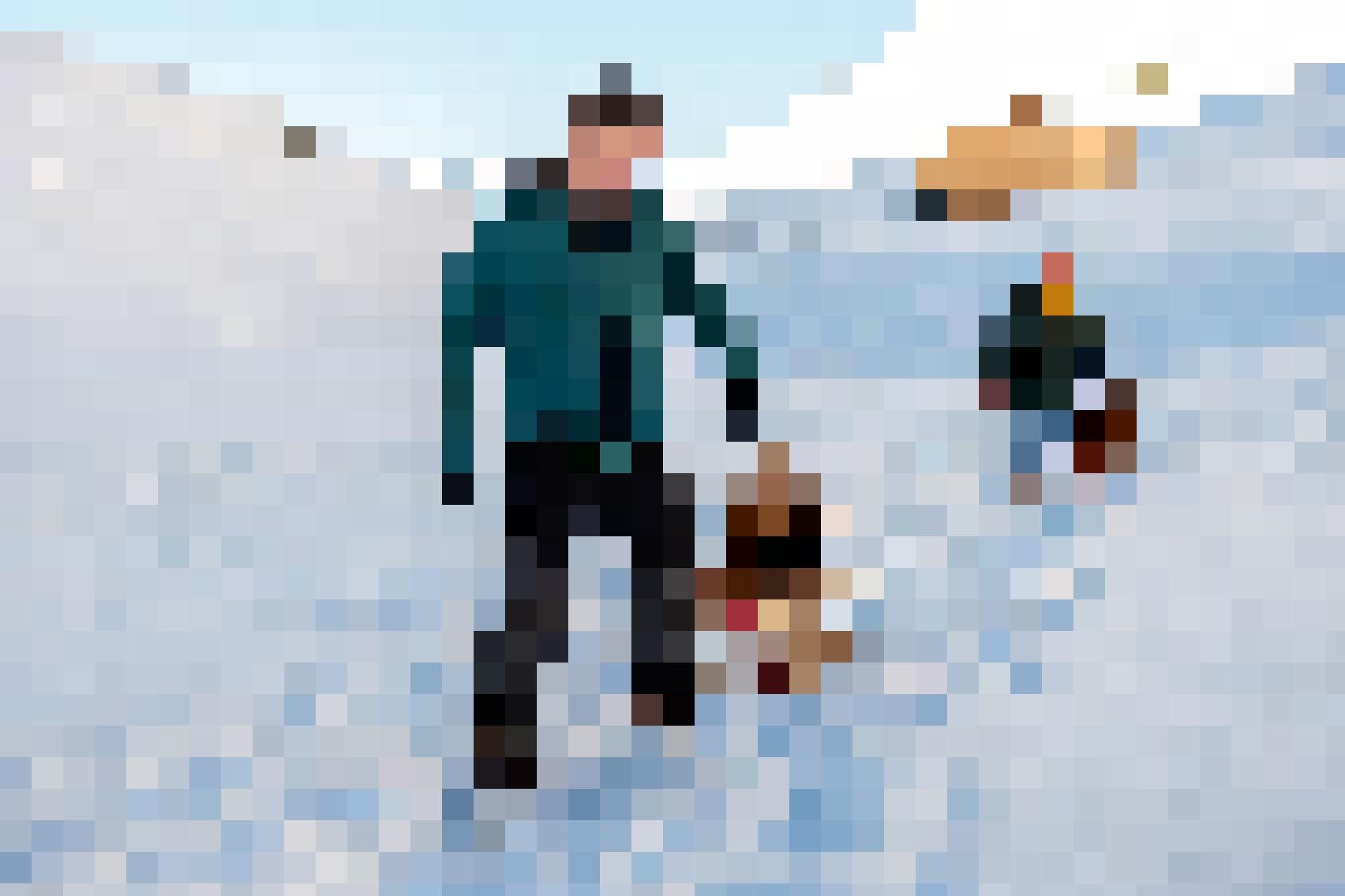 Malgré le froid, Pascal, Andrea et les jumeaux ont profité de l'incroyable sérénité ambiante et des paysages à couper le souffle.