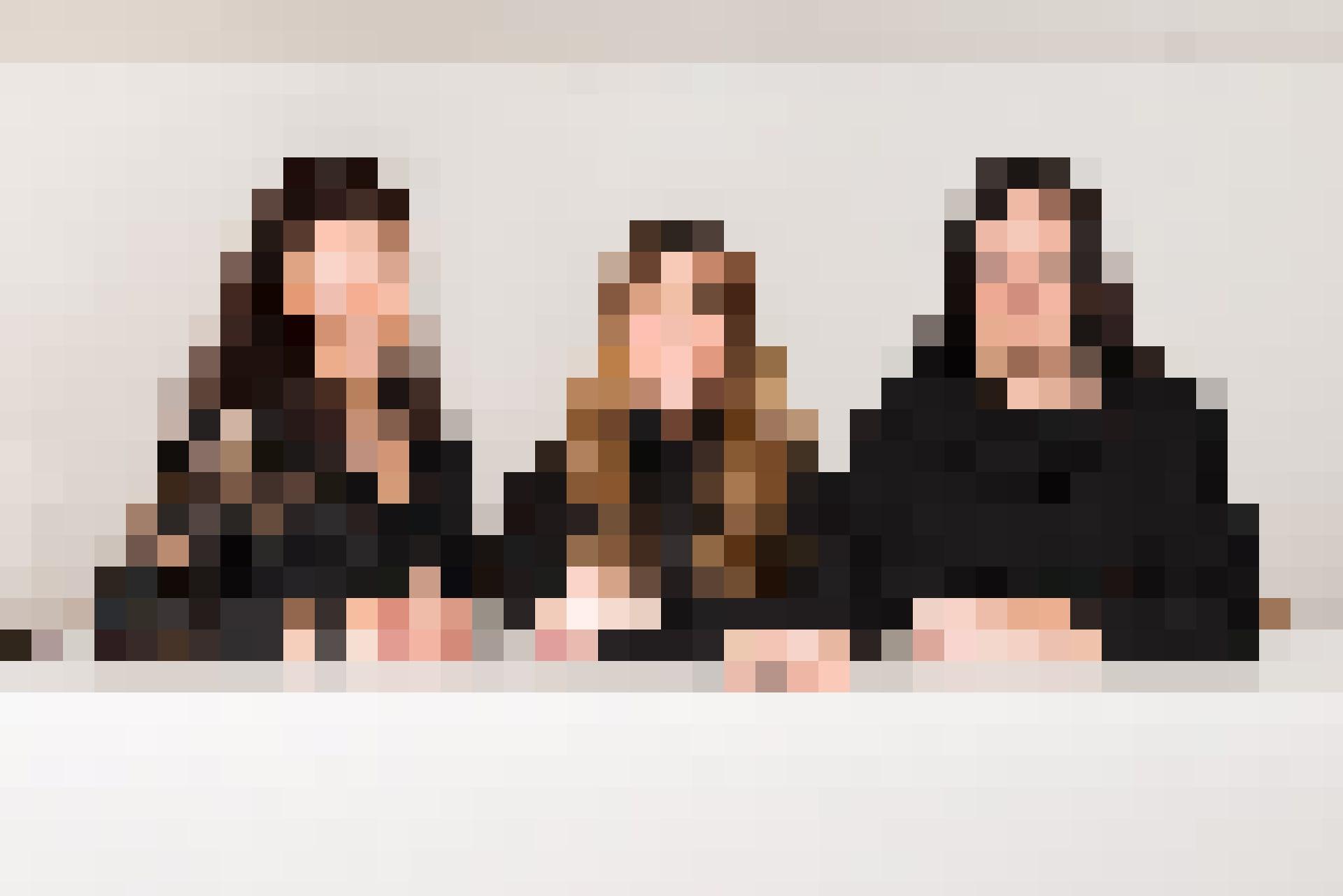 Das kompetente Team der TEKO Basel mit Schulleiterin Terry Tschumi, Martina Tato und Caroline Berthoud (von links nach rechts).