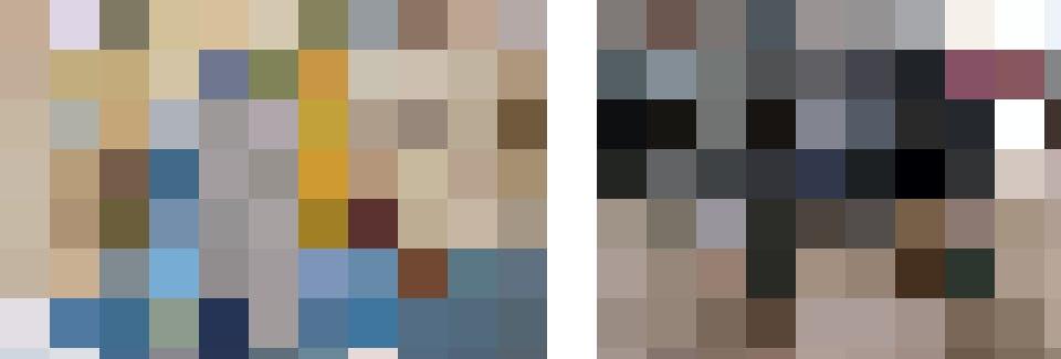 Aus dem Material von gesammelten Altkleidern entsteht Garn für neue Textilien. Bild links: TEXAID (Sortierwerk in Schattdorf), Bild rechts Hochschule Luzern